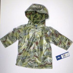 Raincoat Boys Jacket Wippette Camo Army Tank 18 Mo